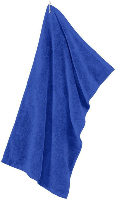 Port Authority-Grommeted Microfiber Golf Towel-Royal-Thread Logic