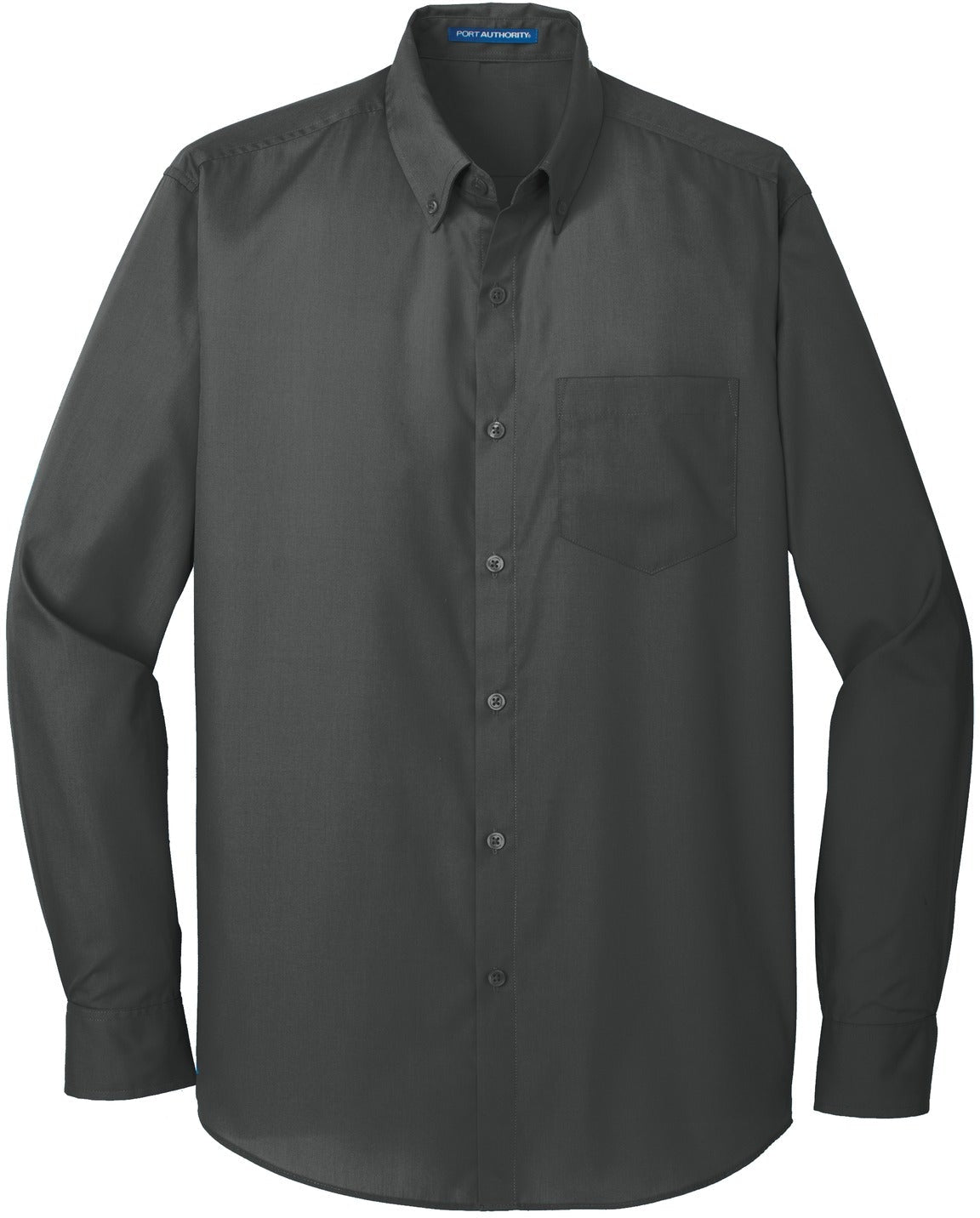 Port Authority-Carefree Poplin Shirt-S-Graphite-Thread Logic
