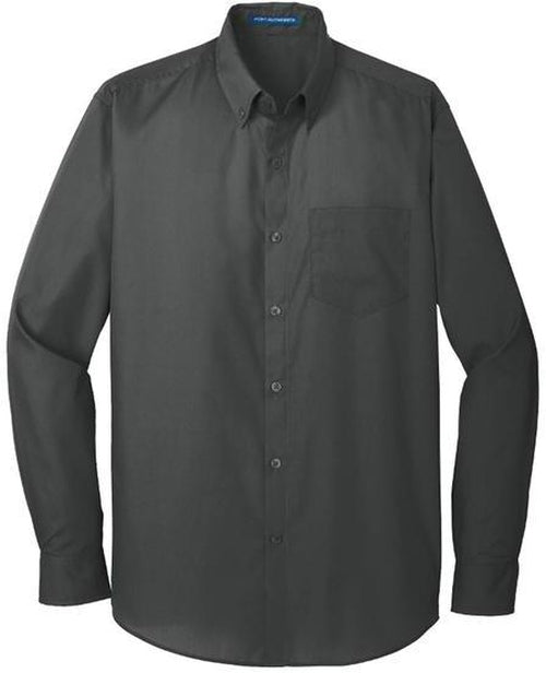 Port Authority-Carefree Poplin Shirt-S-White-Thread Logic
