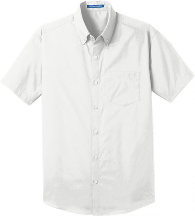Port Authority-Short Sleeve Carefree Poplin Shirt-S-White-Thread Logic