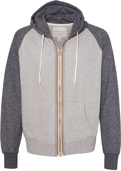 Weatherproof Vintage Marled Full-Zip Hooded Sweatshirt-Men's Layering-Thread Logic