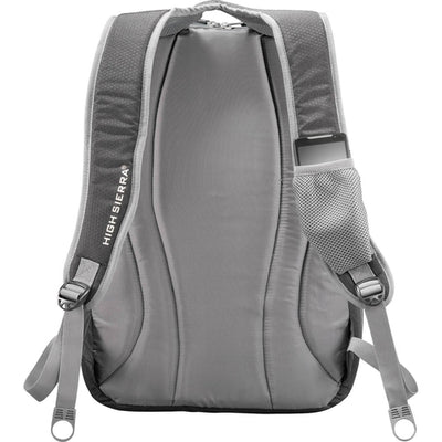 "Elevate-High Sierra Overtime Fly-By 17"" Computer Backpack-Black-Thread Logic"