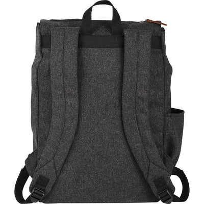"Field&Co-Field & Co. Campster Wool 15"" Rucksack Backpack-Charcoal-Thread Logic"