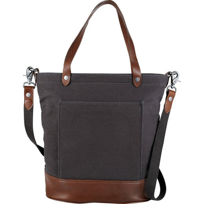 "Alternative-Alternative Cotton 11"" Tablet Tote-Charcoal-Thread Logic"