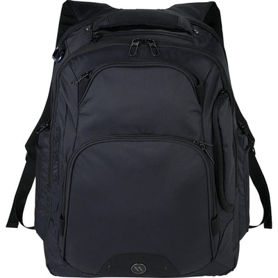 "Elleven-elleven Rutter TSA 17"" Computer Backpack-Black-Thread Logic"