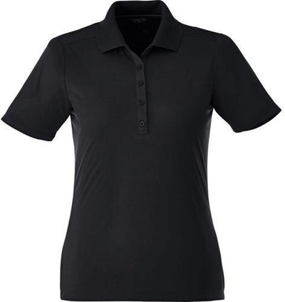 Elevate-Ladies DADE Short Sleeve Polo-S-Black-Thread Logic