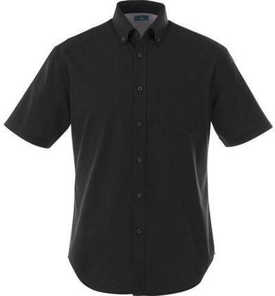 Elevate-STIRLING Short Sleeve Dress Shirt-S-Black-Thread Logic