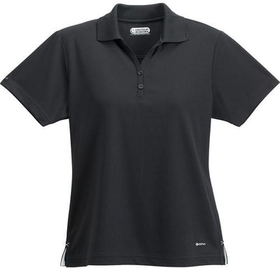 Elevate-Ladies MORENO Short Sleeve Polo-XS-Black-Thread Logic
