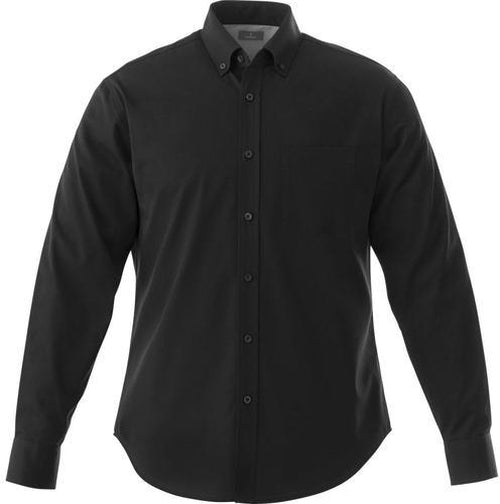 Elevate-Tall WILSHIRE Long Sleeve Dress Shirt-LT-Black-Thread Logic