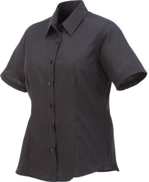 Elevate-Ladies COLTER Oxford Short Sleeve Dress Shirt-XS-Black-Thread Logic