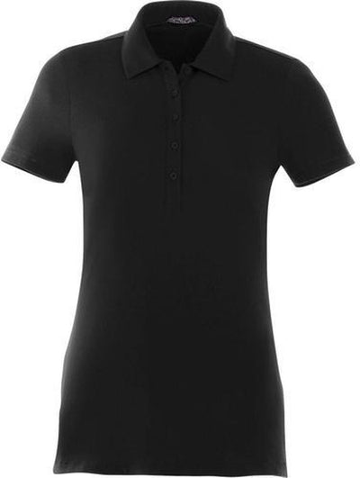 Elevate-Ladies ACADIA Short Sleeve Polo-S-Black-Thread Logic