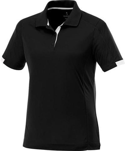 Elevate-Ladies KISO Short Sleeve Polo-S-Black/White-Thread Logic