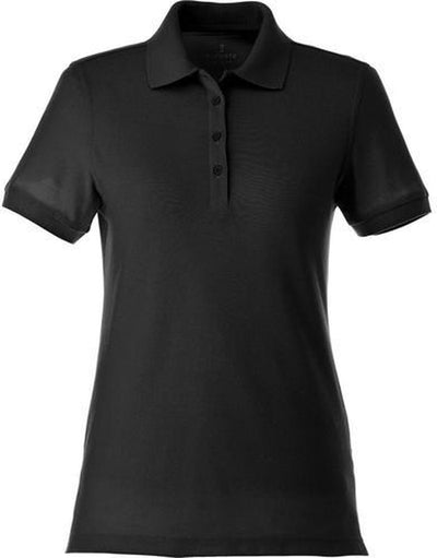 Elevate-Ladies BELMONT Short Sleeve Polo-XS-Black-Thread Logic
