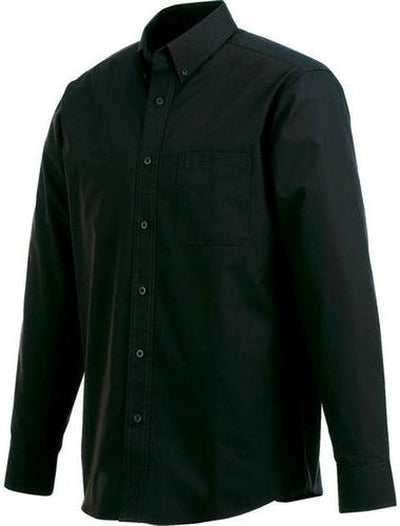 Elevate-PRESTON Long Sleeve Dress Shirt-S-Black-Thread Logic no-logo