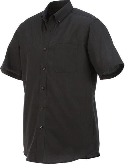 Elevate-COLTER Oxford Short Sleeve Dress Shirt-S-Black-Thread Logic