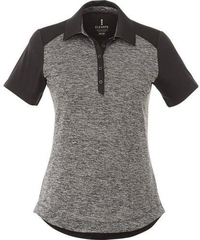 Elevate-Ladies SAGANO Short Sleeve Polo-S-Heather Dark Charcoal-Thread Logic