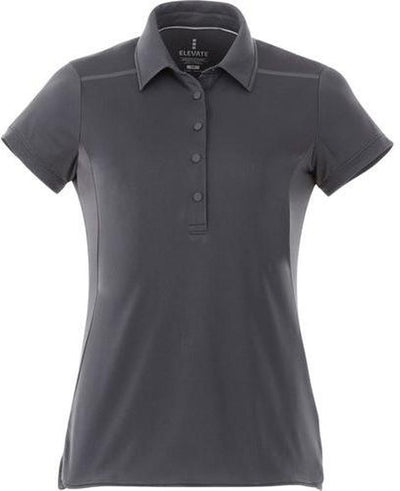 Elevate-Ladies ROYCE Short Sleeve Polo-XS-Black Smoke-Thread Logic