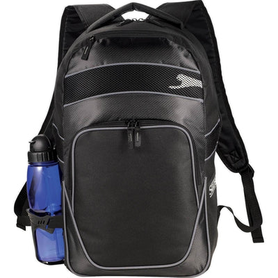 "Elevate-Slazenger Competition 15"" Computer Backpack-Black-Thread Logic"