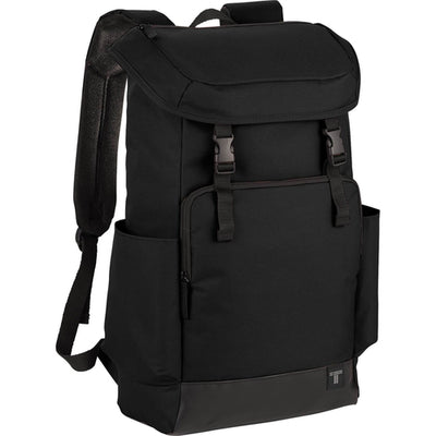 "Elevate-Tranzip 15"" Commuter Computer Backpack-Black-Thread Logic"