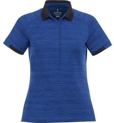 Elevate-Ladies EMORY Short Sleeve Polo-S-Metro Blue Heather-Thread Logic