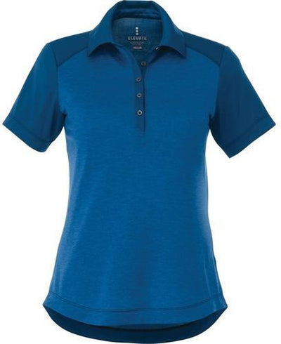 Elevate-Ladies SAGANO Short Sleeve Polo-S-Olympic Blue Heather-Thread Logic