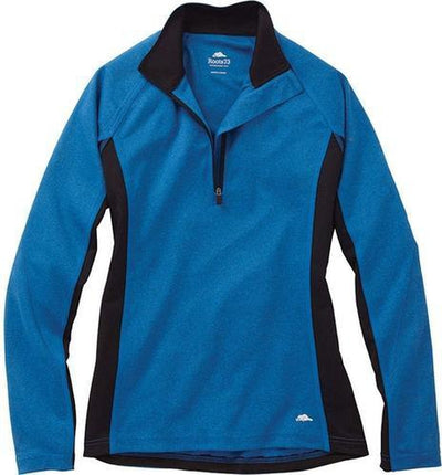 Ladies Roots73 Birchlake Tech 1/4 Zip-XS-Pacific Blue-Thread Logic