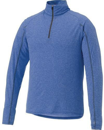 Elevate-TAZA Quarter Zip-S-New Royal Heather-Thread Logic