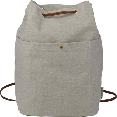 Field&Co-Field & Co. Convertible 16oz. Cotton Canvas Tote-Grey-Thread Logic