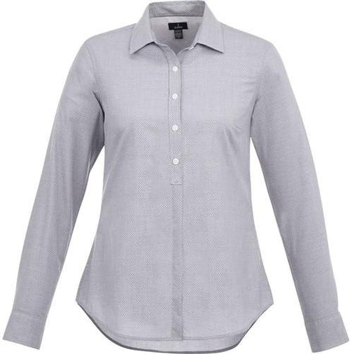 Elevate-Ladies THRUSTON Long Sleeve Dress Shirt-S-Grey Storm-Thread Logic