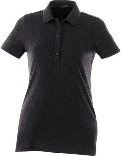 Elevate-Ladies ACADIA Short Sleeve Polo-S-Heather Dark Charcoal-Thread Logic