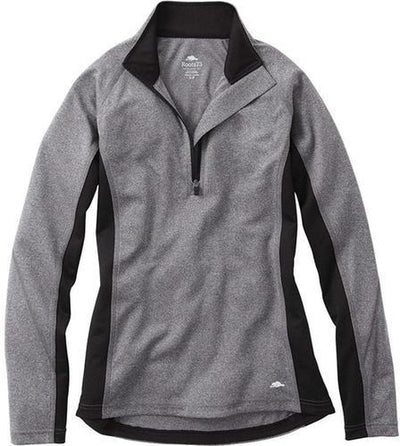 Ladies Roots73 Birchlake Tech 1/4 Zip-XS-Dark Charcoal-Thread Logic