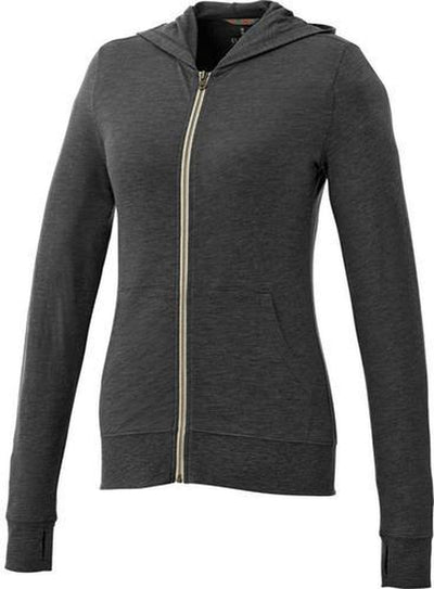 Elevate-Ladies GARNER Full Zip Hoody-XS-Heather Dark Charcoal-Thread Logic