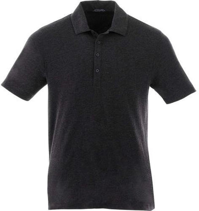 Elevate-ACADIA Short Sleeve Polo-S-Heather Dark Charcoal-Thread Logic