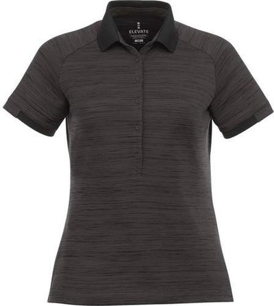 Elevate-Ladies EMORY Short Sleeve Polo-S-Black Smoke Heather-Thread Logic