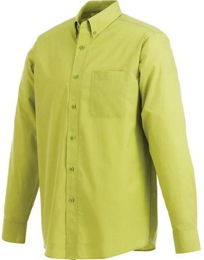 Elevate-PRESTON Long Sleeve Dress Shirt-S-Citron Green-Thread Logic no-logo