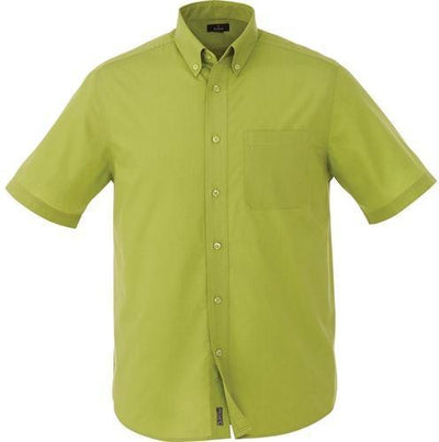 Elevate-COLTER Oxford Short Sleeve Dress Shirt-S-Citron Green-Thread Logic