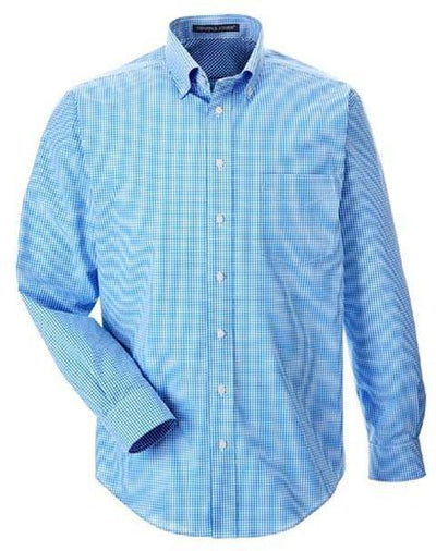 Devon&Jones-Gingham Check Dress Shirt-S-French Blue-Thread Logic