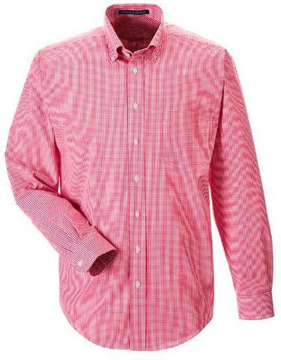 Devon&Jones-Gingham Check Dress Shirt-S-Red-Thread Logic