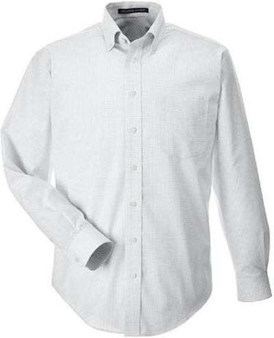 Devon&Jones-Gingham Check Dress Shirt-S-Silver-Thread Logic