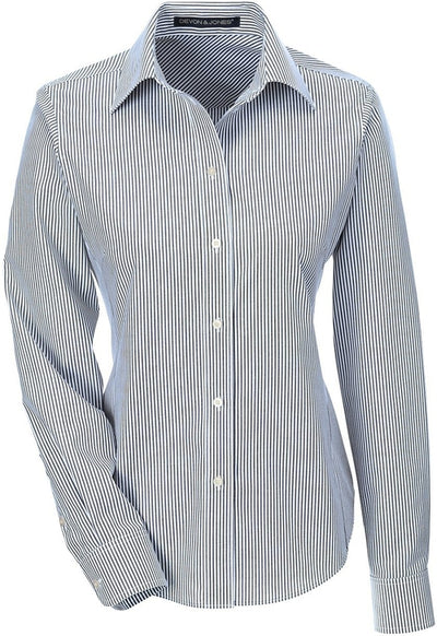 Devon & Jones Ladies Crown Woven Banker Stripe