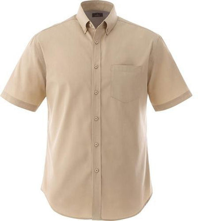 Elevate-STIRLING Short Sleeve Dress Shirt-S-Desert Khaki-Thread Logic