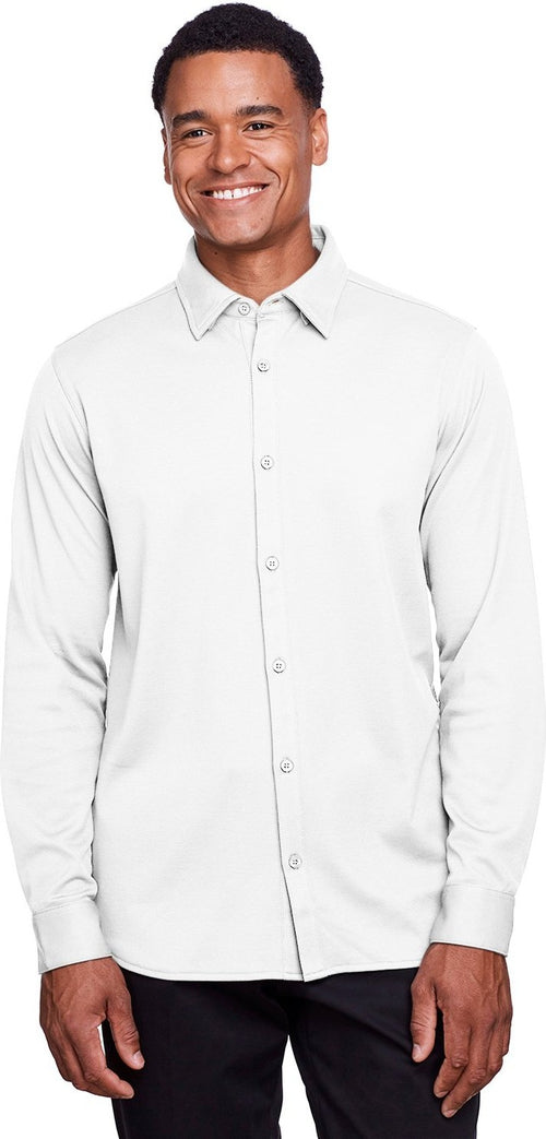 Devon & Jones CrownLux Performance Plaited Button-Down Shirt