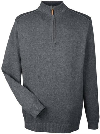 Devon&Jones-Manchester Fully-Fashioned Half-Zip Sweater-S-Dark Grey/Black-Thread Logic