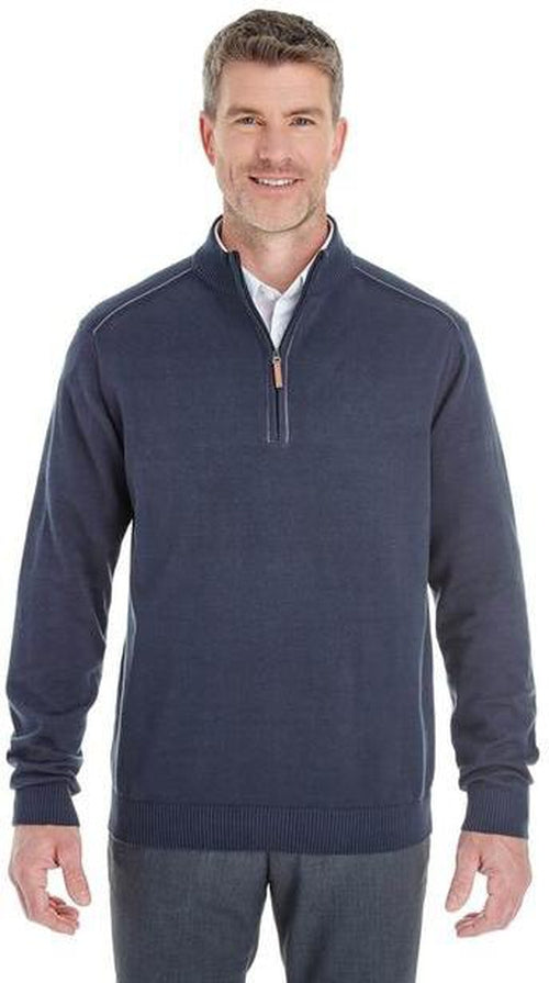 Devon&Jones-Manchester Fully-Fashioned Half-Zip Sweater-Thread Logic