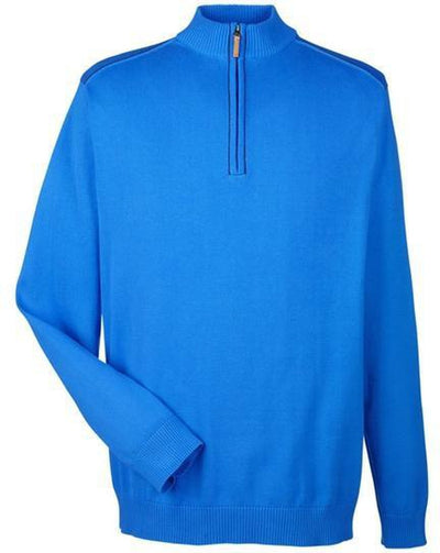 Devon&Jones-Manchester Fully-Fashioned Half-Zip Sweater-S-French Blue/Navy-Thread Logic