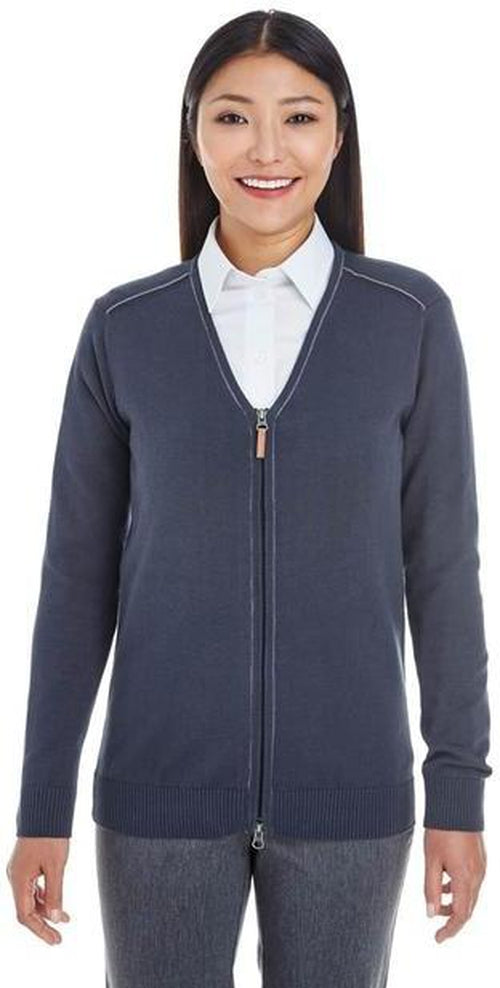 Devon&Jones-Manchester Ladies Full-Zip Sweater-Thread Logic no-logo