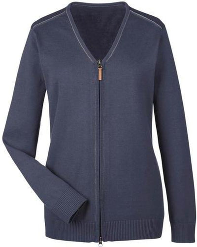 Devon&Jones-Manchester Ladies Full-Zip Sweater-XS-Navy/Graphite-Thread Logic