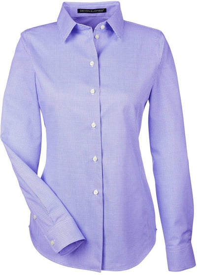Devon & Jones Ladies Crown Woven Royal Dobby Shirt