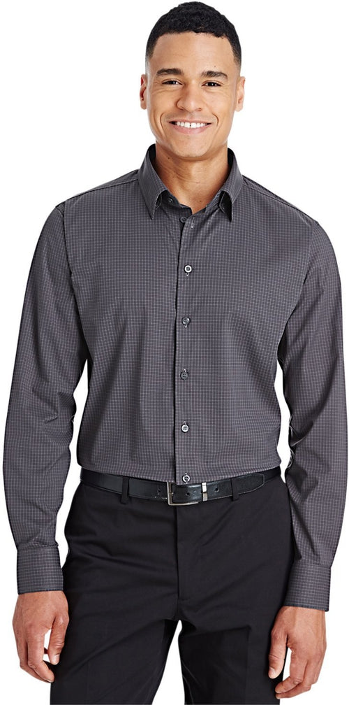 Devon & Jones CrownLux Performance Tonal Mini Check Shirt