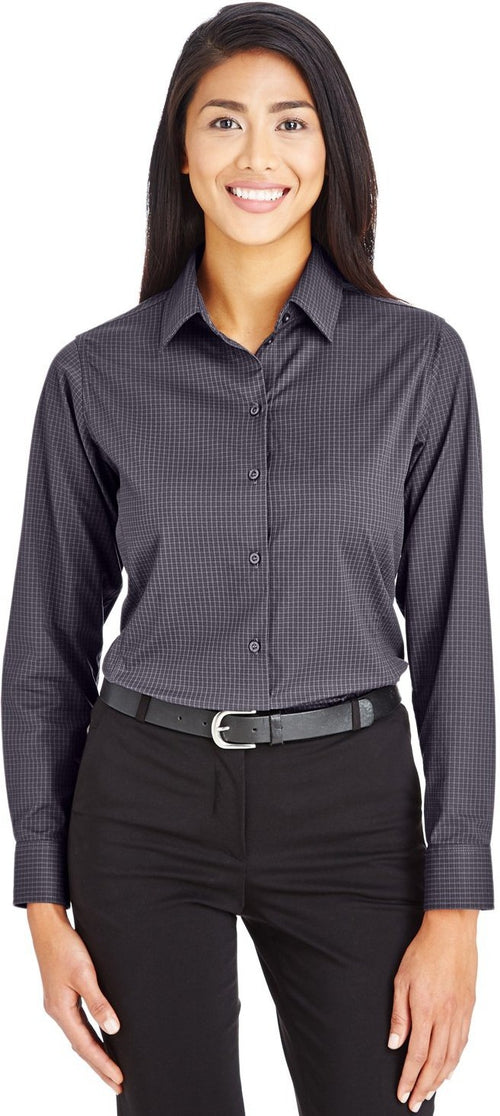 Devon & Jones Ladies CrownLux Performance Tonal Mini Check Shirt